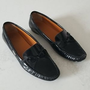 Salvatore Ferragamo Patent Leather Black Loafers